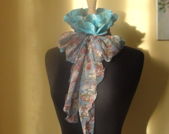 Felted scarf-collar