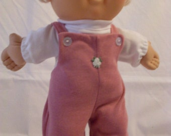 """14"""" Baby Cabbage Patch Mauve Footed Overall Set"""