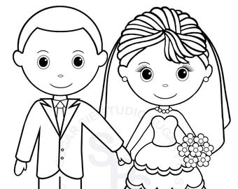 Popular items for kids coloring page on etsy for Groom coloring pages