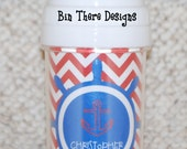 Personalized Spill Proof Sippy Cup - Anchor