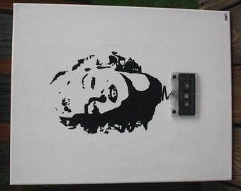 Marilyn Monroe cassette tape art ORIGINAL