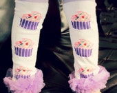 All Legwarmers ON SALE- cup-cake Girls Leg Warmers ) Perfect for crawling baby