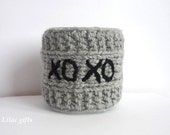 Mug Cozy XOXO, Valentines day gift , any color ,  Coffee Cup Cozy,Travel cup cozy,