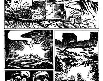 Original Comic Book Art page 1 from Graphic Novel Rock Testament