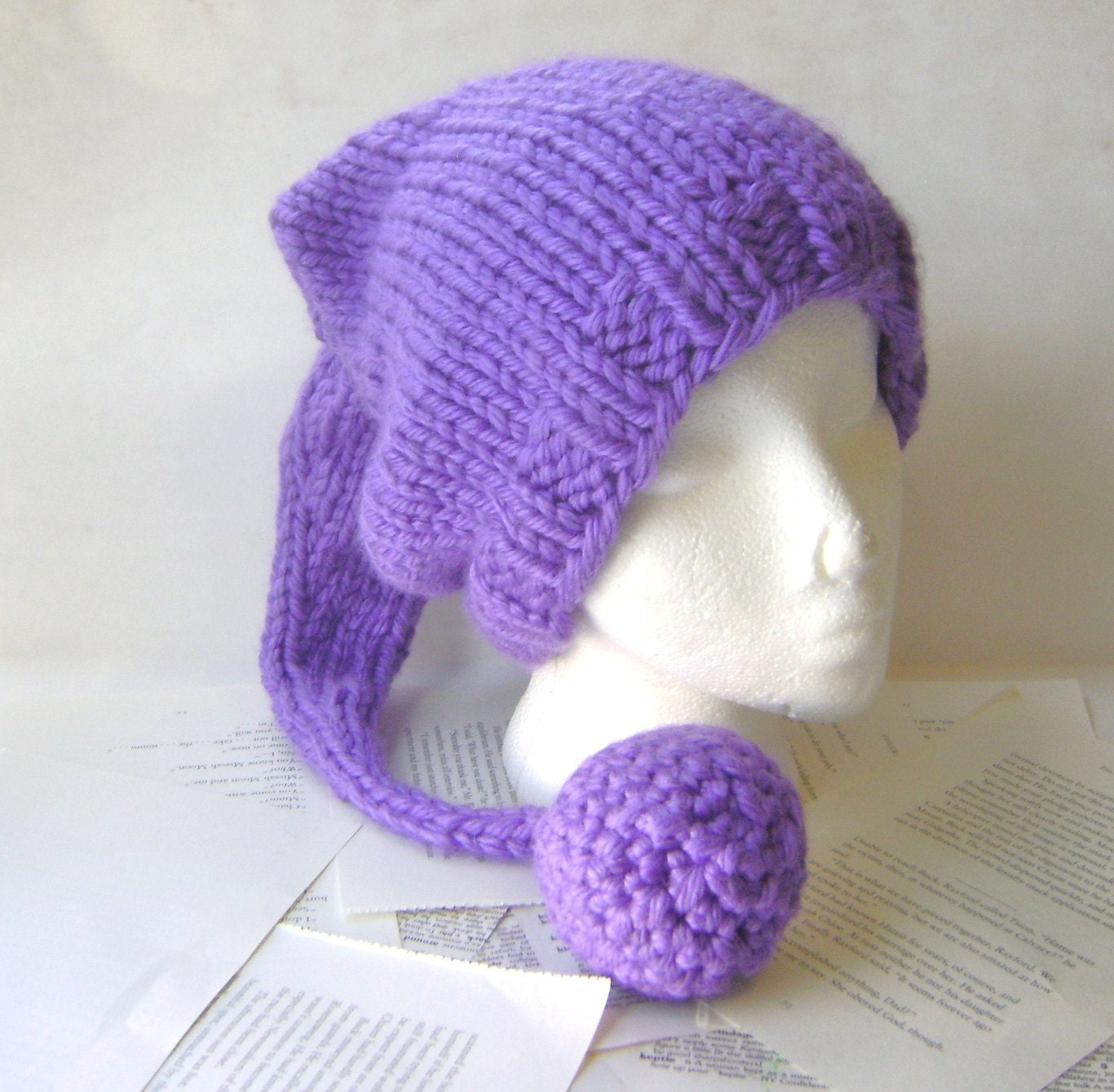 PDF Knitting Pattern Stocking Hat for Chunky Yarn by knithabit