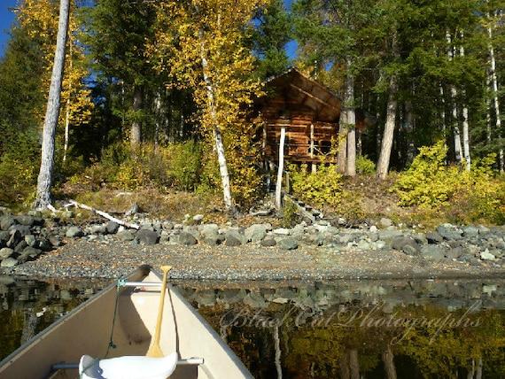 items similar to log cabin photo lake cabin in woods. Black Bedroom Furniture Sets. Home Design Ideas
