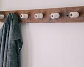 RESERVED FOR  WBABRONCO - High Line Salavaged Coat Rack
