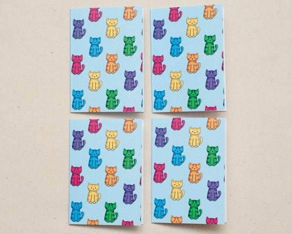 4 Cat Mini-Cards