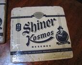 Set of Shiner Kosmos Natural Stone Coasters