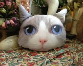 NEW 100% Original Cat Head Style Pillow  - Ragdoll-  Very Cute  NEW