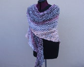 Pinky Peach and Brown Knit Wrap