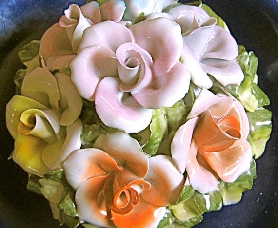 50% OFF Truly Amazing LARGE JRJS Romanian Porcelain Rose Basket