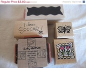 cLeArAnCe Rubber Stamps - ALL NEW - Border Butterfly Easter Hearts