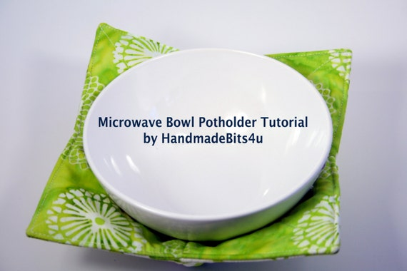 Kitchen Microwave Bowl Potholder Cozy PDF Tutorial - Use for Ice Cream Too - Digital Download