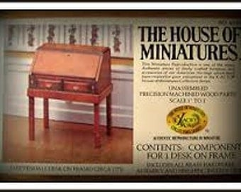 House of Miniatures Chippendale Desk On Frame Kit 40067 Rare