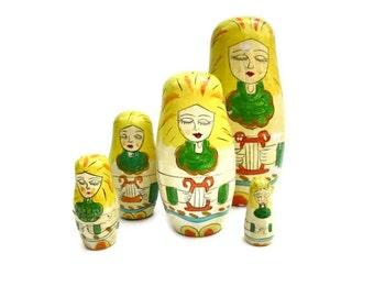 Vintage Matryoshka Babushka Dolls