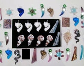 REDUCED Lot of 40 Murano Glass Pendants BULK WHOLESALE