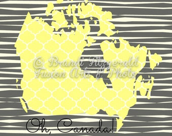 Canada Silhoutte Canadian Inspired Graphic Lines Wall Decor Product Options and Pricing via Dropdown Menu