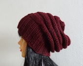UNISEX Sacking Winter Hat - Autumn Accessories - Slouchy Beanie  Women Hat  - Oversized Hat - Chunky Knit  - Mens Slouchy - ANY COLOR #9