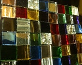 Sale! 100 JACOB'S COAT MIRROR Mix - Colored Stained Glass Mosaic Tile Supply M3