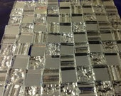 100 TEXTURED 3-MIRROR MIX - Loose Tiles Stained Glass Mosaic Supply M4