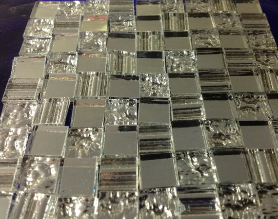 100 textured 3 mirror mix loose tiles stained glass mosaic for Cracked mirror tiles