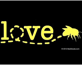 Window Decal - Honey Bee Car Window Decal - Honey Bee Love Window Decal - Car Sticker - Beekeeper Bumper Sticker - We love bees