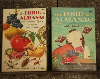 Vintage Ford Almanacs- 1958 and 1963 - Excellent Condition