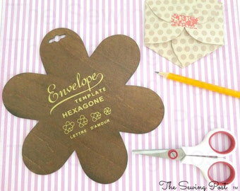 Hexagon Wood Envelope Template