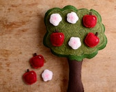 Handmade Montessori Work- Magnetic Wool Felt Counting & Sorting Toy. Apple tree. Made to Order. - alyparrott