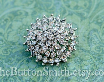 Rhinestone Buttons -Cambria- (26mm) RS-029 - 5 piece set