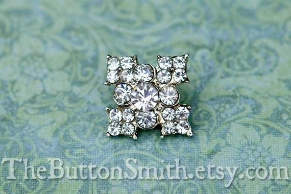 Rhinestone Buttons -Sarah- (18mm) RS-052 - 20 piece set