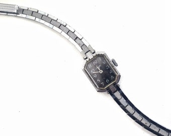 GORGEOUS Luch Lady's WRISTWATCH, silver and blue color