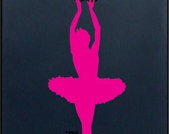 Ballerina Iphone Vinyl Decal