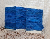 Bright Blue Sari Silk Ribbon