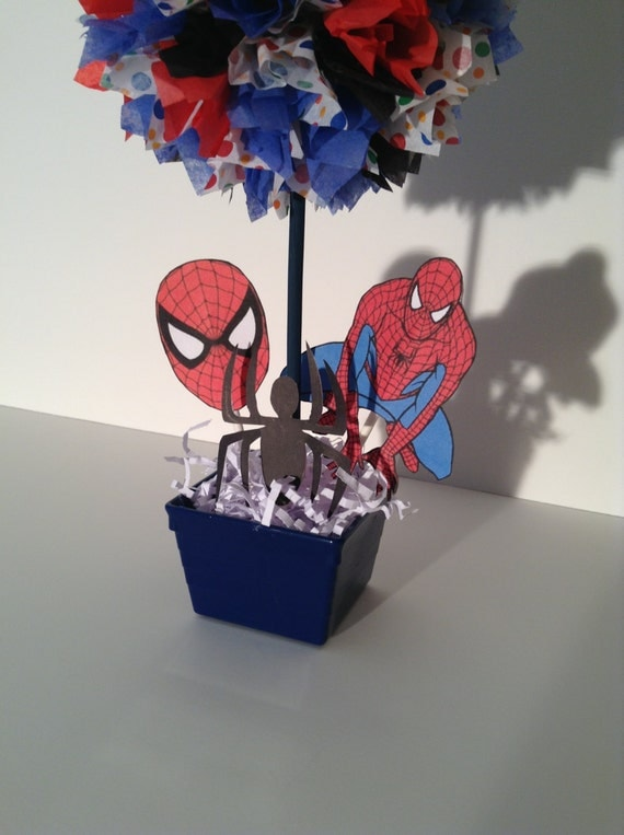 Alishakaydesigns spiderman birthday party decoration for Spiderman decorations