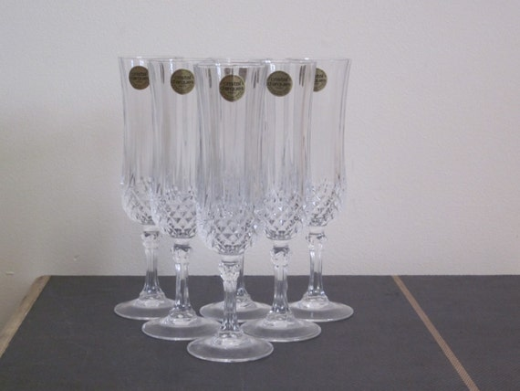 champagne flutes cristal d arques lead by thethriftingmagpie. Black Bedroom Furniture Sets. Home Design Ideas