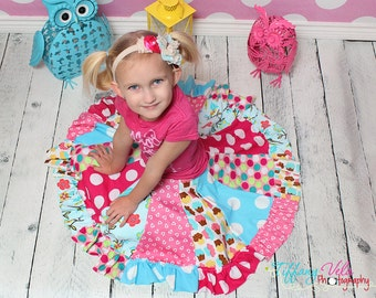 Aylah's knit twirly circle skirt PDF Pattern NEW sizes 6-12 months to size 8