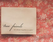 True Friends Anne Of Green Gables Card
