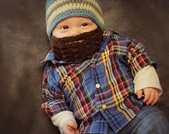 Crochet Baby Beard and Beanie