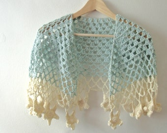 Crochet Shawl Pattern  - Sea Breeze Shawl - PDF Crochet Pattern