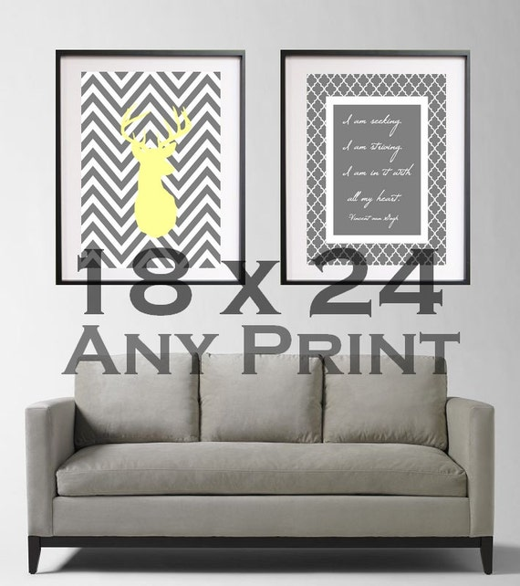 Items similar to 18x24 custom print wall art poster Decorating walls with posters