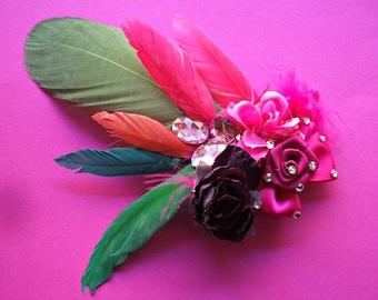 handmade hair clip, burlesque style