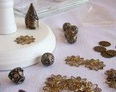 Vintage Style Beading Components - Antiqued Brass - Antiqued Gold