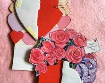 Two Adorable Valentine Honeycomb Decorations
