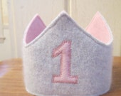 Reserved Listing for Kylie Fraser Reversible Waldorf 1st Birthday Crown Applique Adjustable