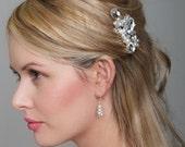 Bridal Comb - Wedding Hair Accessory - bride, crystal pearl hair comb, rhinestone wedding, Crystal and Pearl Hair Accessory for Wedding