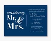 new mr.&mrs. couples shower invite custom printable--digital file