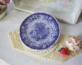 Blue Williamsburg  Dollhouse Plate
