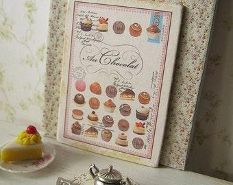 Au Chocolat Sign for Dollhouse
